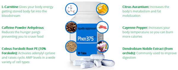 Phen375 Reviews : Ingredients